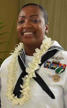 Adm. Scott Swift commander of U.S. Pacific Fleet (PACFLT), announced Culinary Specialist 1st Class Latoya Farrish as 2017 PACFLT Sea Sailor of the Year (SOY) and Construction Mechanic 1st Class Cole Tankersley as the Shore SOY during a ceremony held at the Hale Koa hotel in Honolulu March 23.